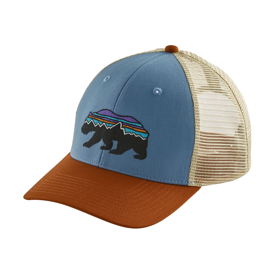 Patagonia Fitz Roy Bear Trucker Hat Railroad Blue