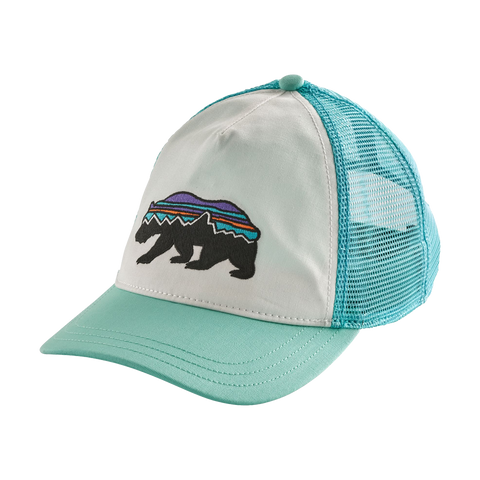 Patagonia Women s Fitz Roy Bear Trucker Hat White 2f0aaad7f973