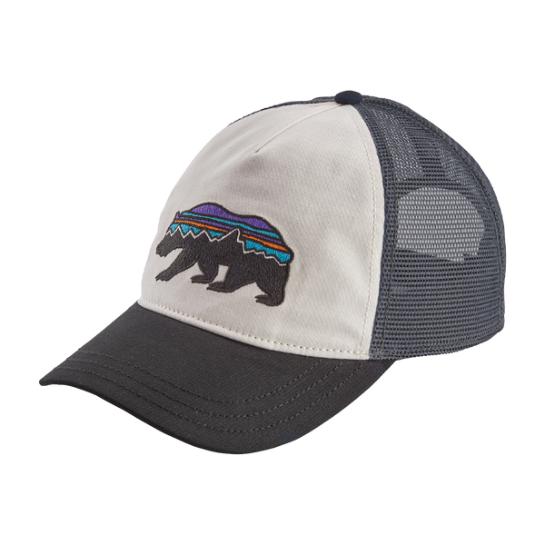 Patagonia Women's Fitz Roy Bear Layback Trucker Hat White w/Black