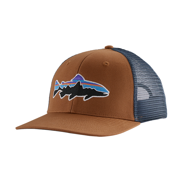 Patagonia Fitz Roy Trout Trucker Hat Earthworm Brown