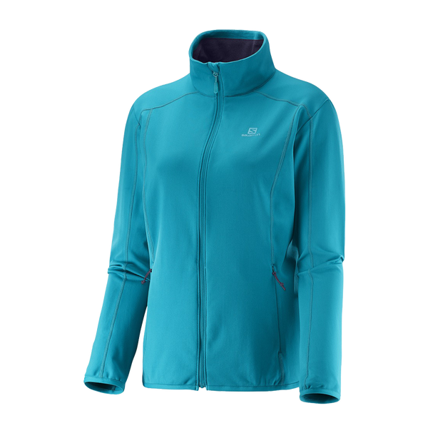 Salomon Women's Discovery MicroFleece Full Zip Kouak Blue