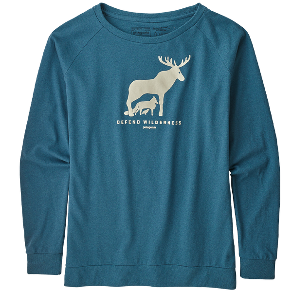 Patagonia Women's Long-Sleeved Defend Wilderness Responsibili-Tee Tasmanian Teal