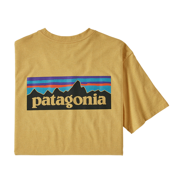 Patagonia Men's P-6 Logo Tee Surfboard Yellow