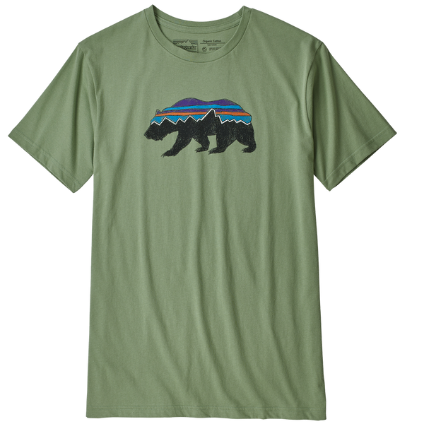 Patagonia Men's Fitz Roy Bear Organic T-Shirt Matcha Green