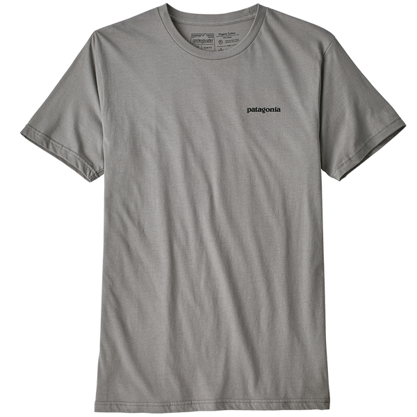 Patagonia Men's P-6 Logo Organic T-Shirt Feather Grey