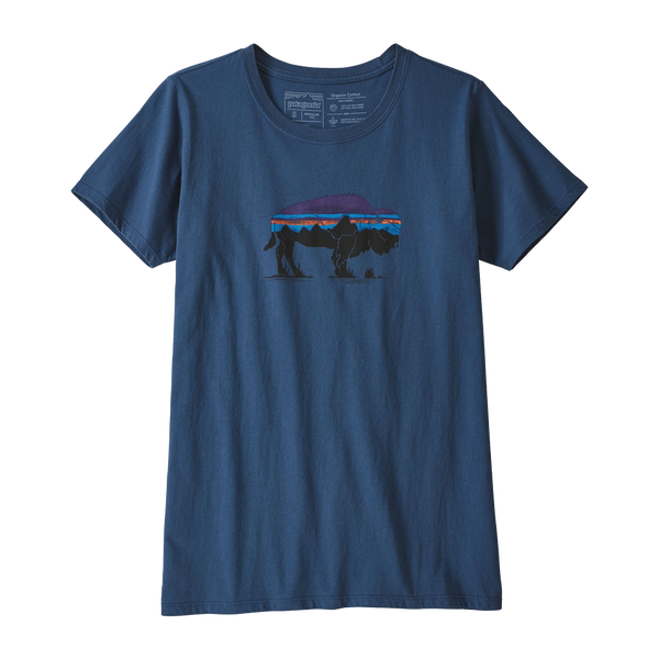 Patagonia Women's Fitzroy Bison Tee Stone Blue