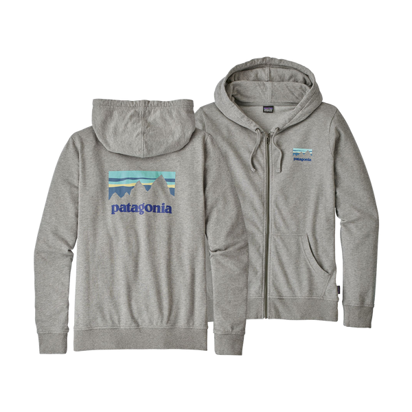 Patagonia Women's Shop Sticker Lightweight Hoody Feather Grey