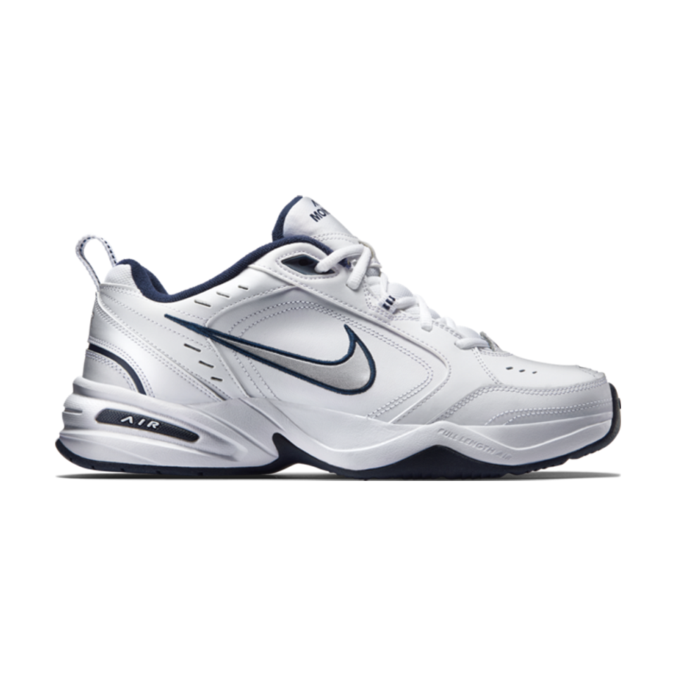 Nike Men's Air Monarch IV WhiteMetallic Silver