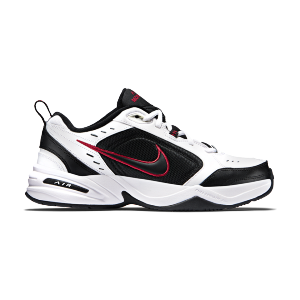 promo code 883bf 056d3 Nike Men s Air Monarch IV 4E White Black - Play Stores Inc