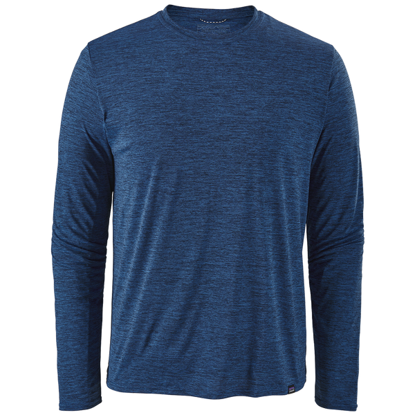 Patagonia Men's Long-Sleeved Capilene Cool Daily Shirt Viking Blue - Navy Blue X-Dye