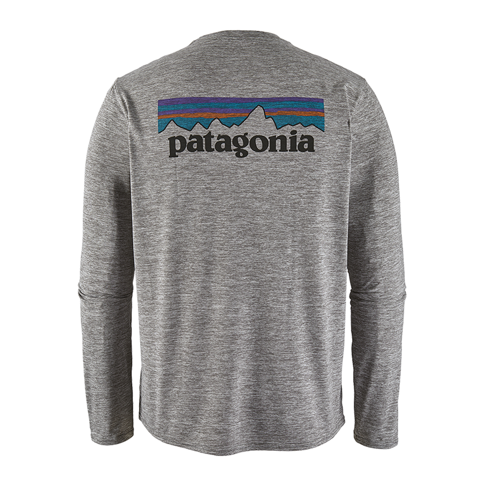 Patagonia Men's Long-Sleeved Capilene Cool Daily Graphic Shirt Feather Grey