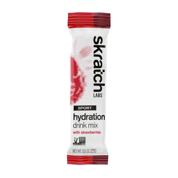 Skratch Labs Sport Hydration Drink Mix Single Serving Strawberry