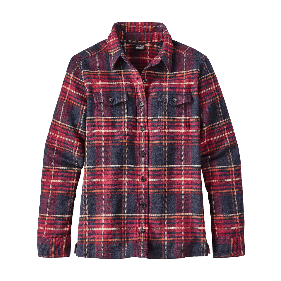9eb7a877eed Patagonia Women s Fjord Flannel Long Sleeve Shirt Magenta - Play ...