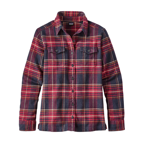 Patagonia Women's Fjord Flannel Long Sleeve Shirt Magenta
