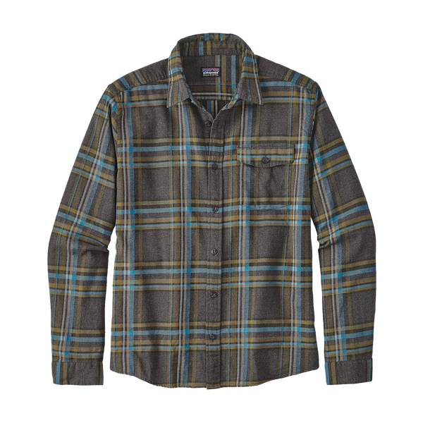 Patagonia Men's Long Sleeve Lightweight Fjord Flannel Forge Grey