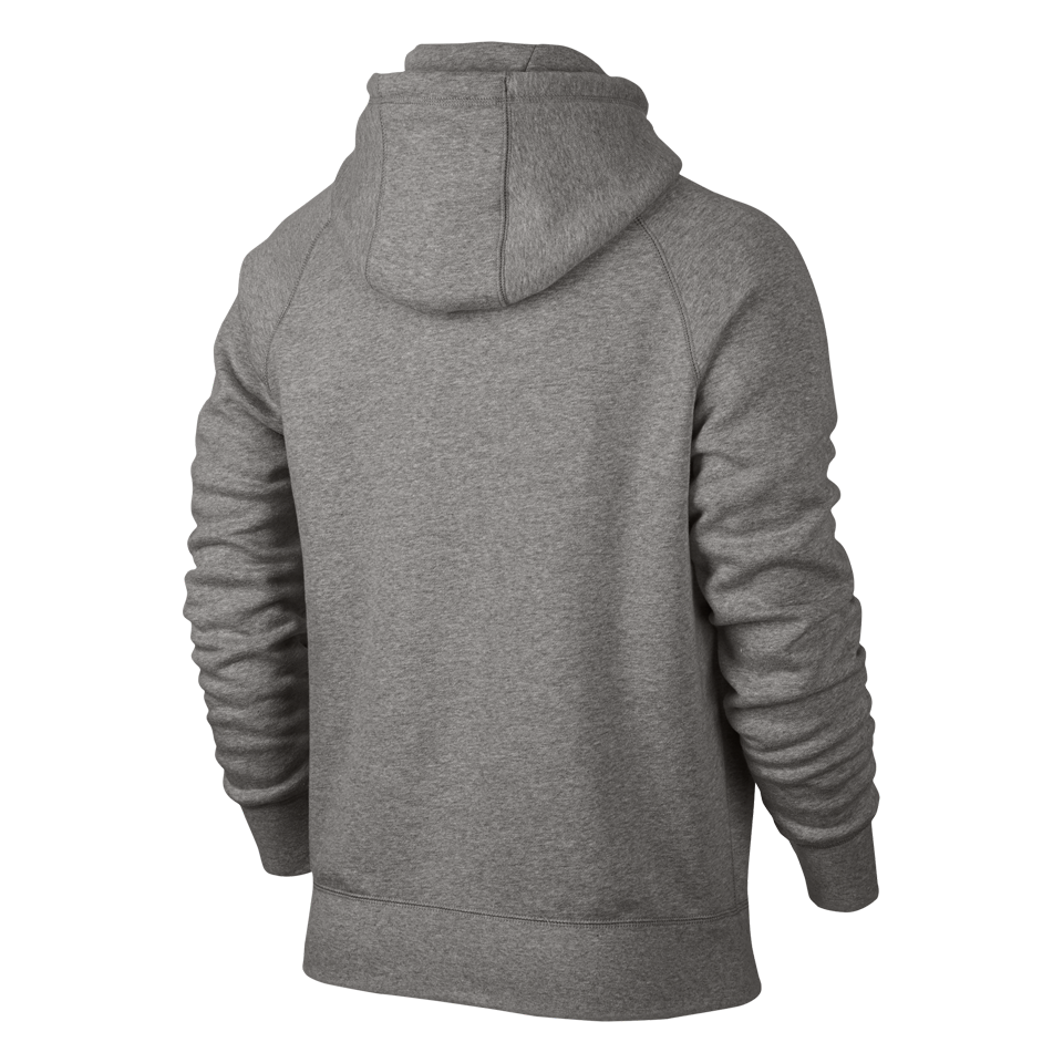 Nike Men's AW77 Fleece Hoodie Grey