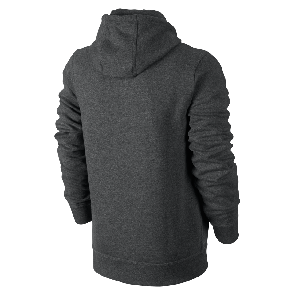 Nike Men's Club Swoosh Hoodie Charcoal Heather