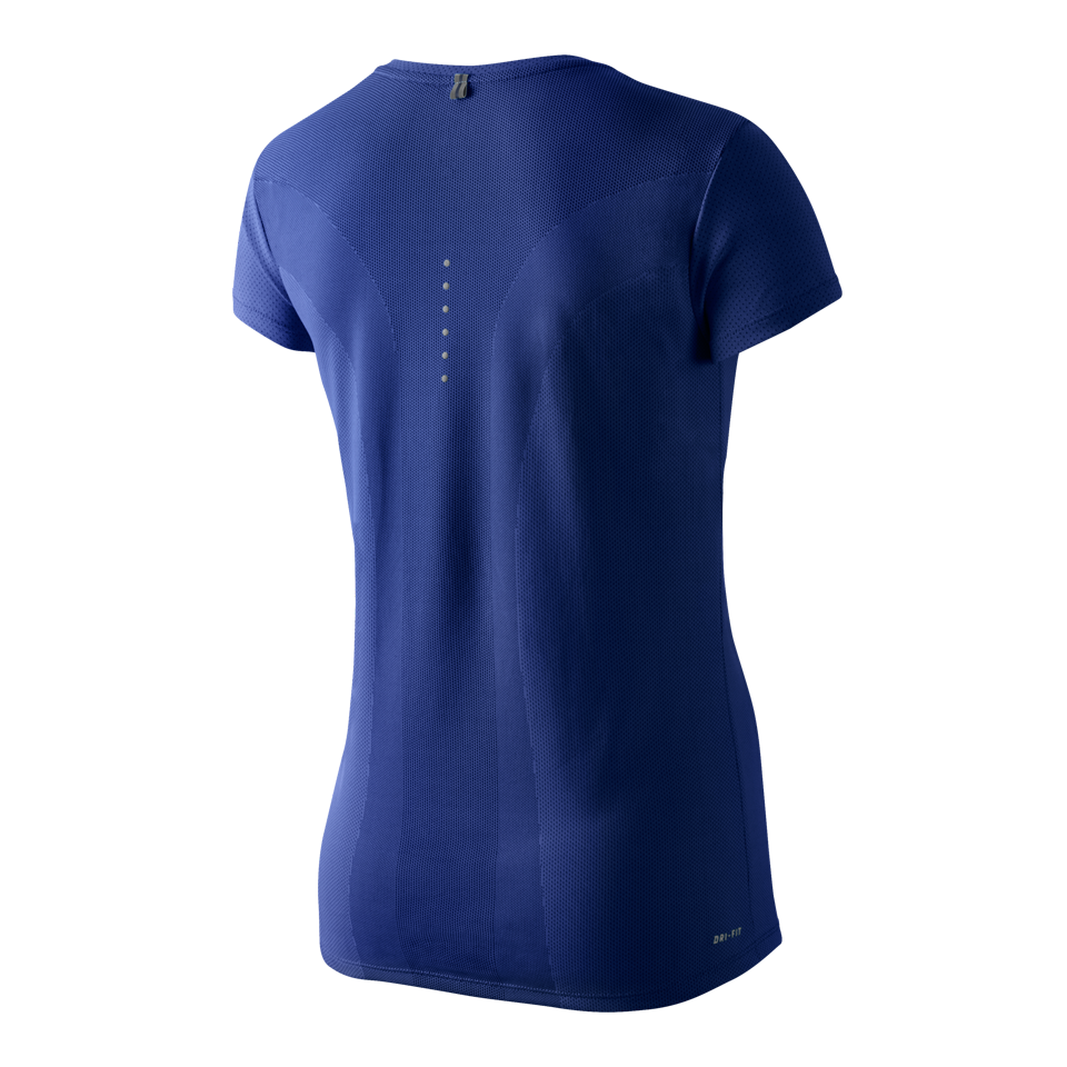 Nike Women's Dri-FIT Contour Short Sleeve T Deep Royal