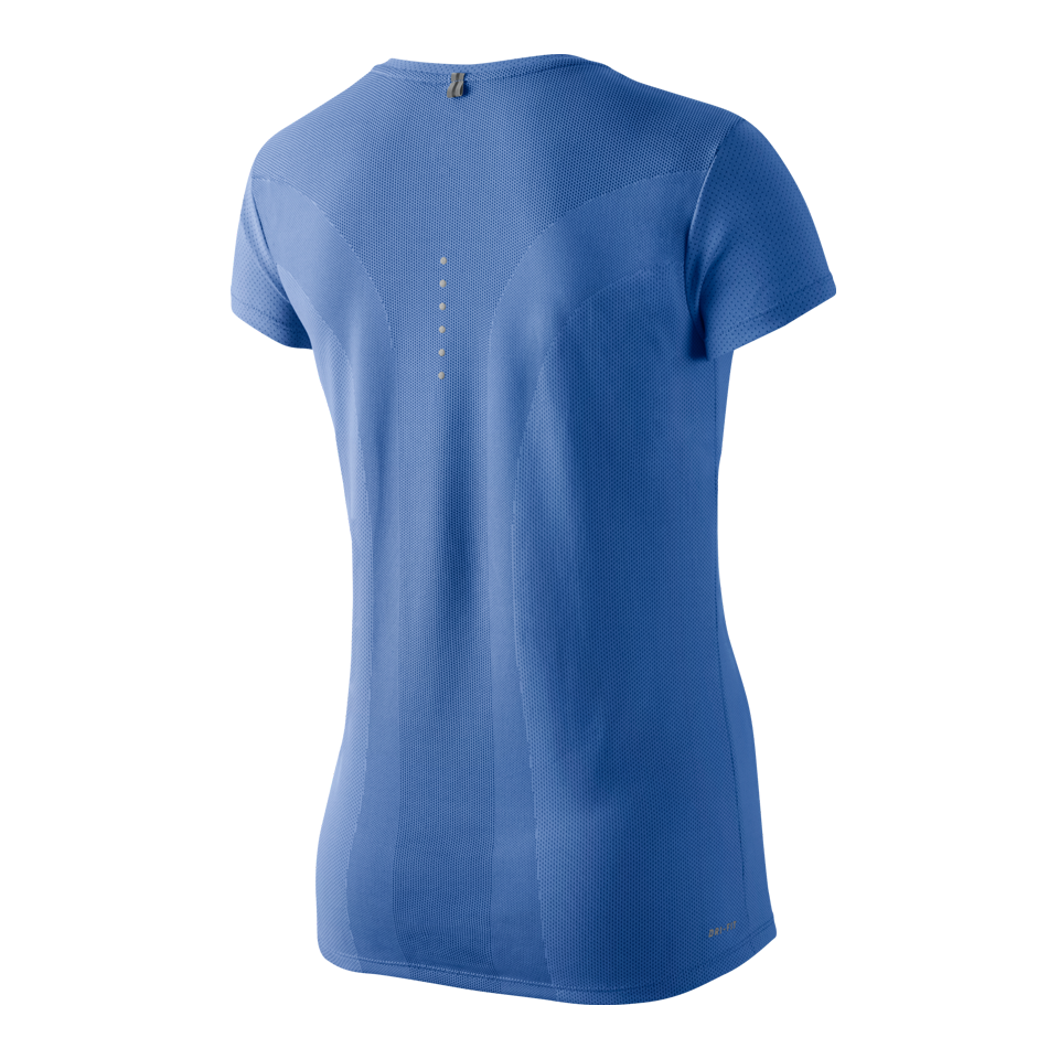 Nike Women's Dri-FIT Contour Short Sleeve Tee Chalk Blue