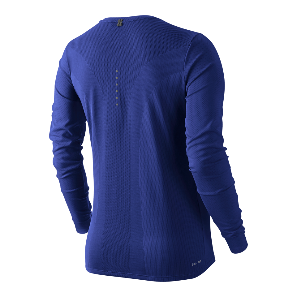 Nike Women's Dri-FIT Contour Long Sleeve Tee Deep Royal