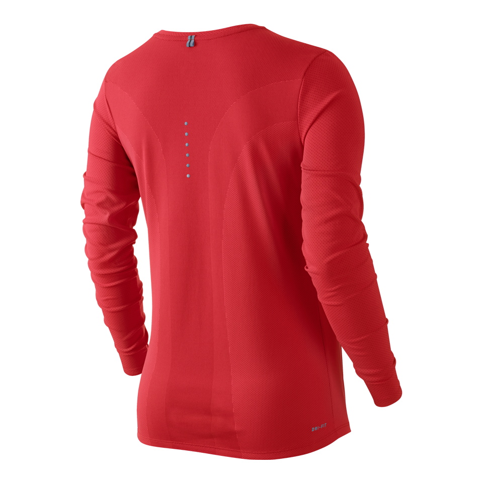 Nike Women's Dri-FIT Contour Long Sleeve Tee Red