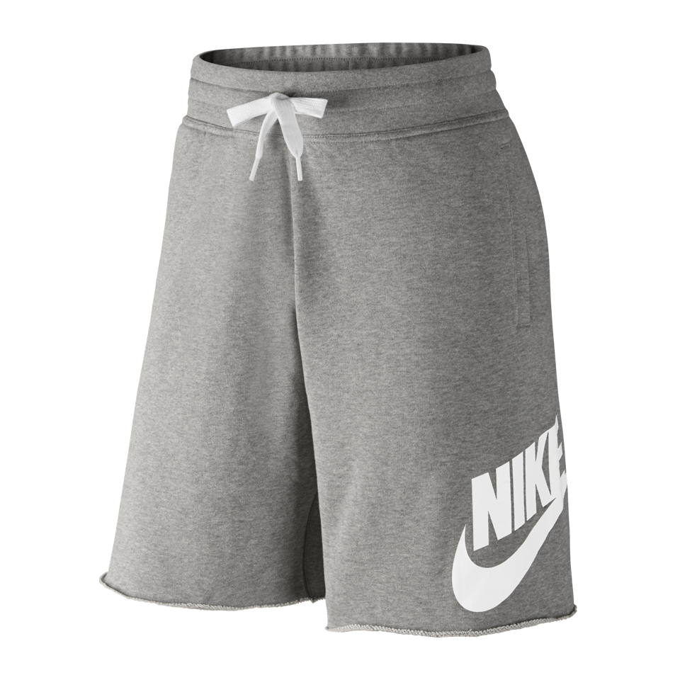 Nike Men's AW77 Alumni French Terry Shorts Dark Grey Heather