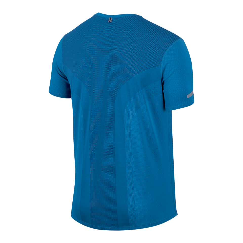 Nike Men's Dri-FIT Contour Short Sleeve Tee Photo Blue