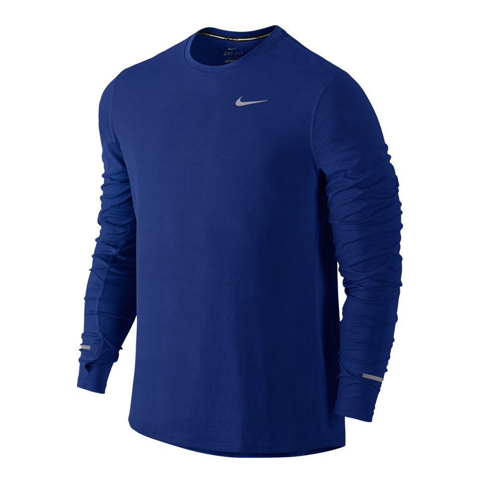 Nike Men's Dri-FIT Contour Long Sleeve Tee Deep Royal