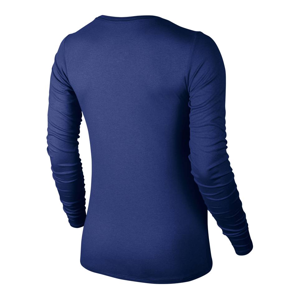 Nike Women's Legend Long Sleeve V-Neck Deep Royal