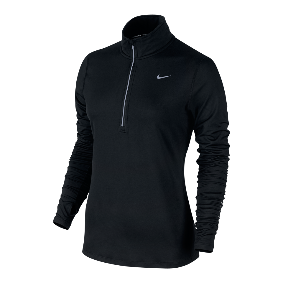 Nike Women's Element Half Zip Black
