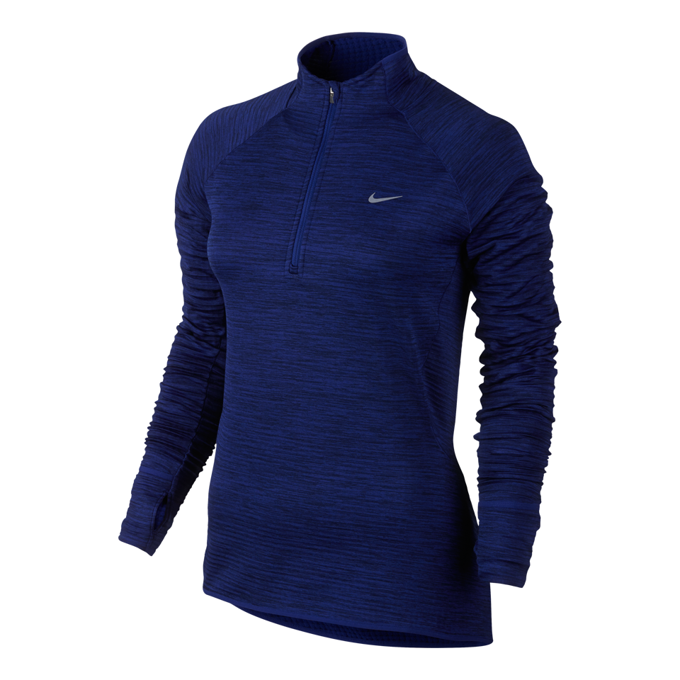Nike Women's Element Sphere Half Zip Long Sleeve Top Deep Royal