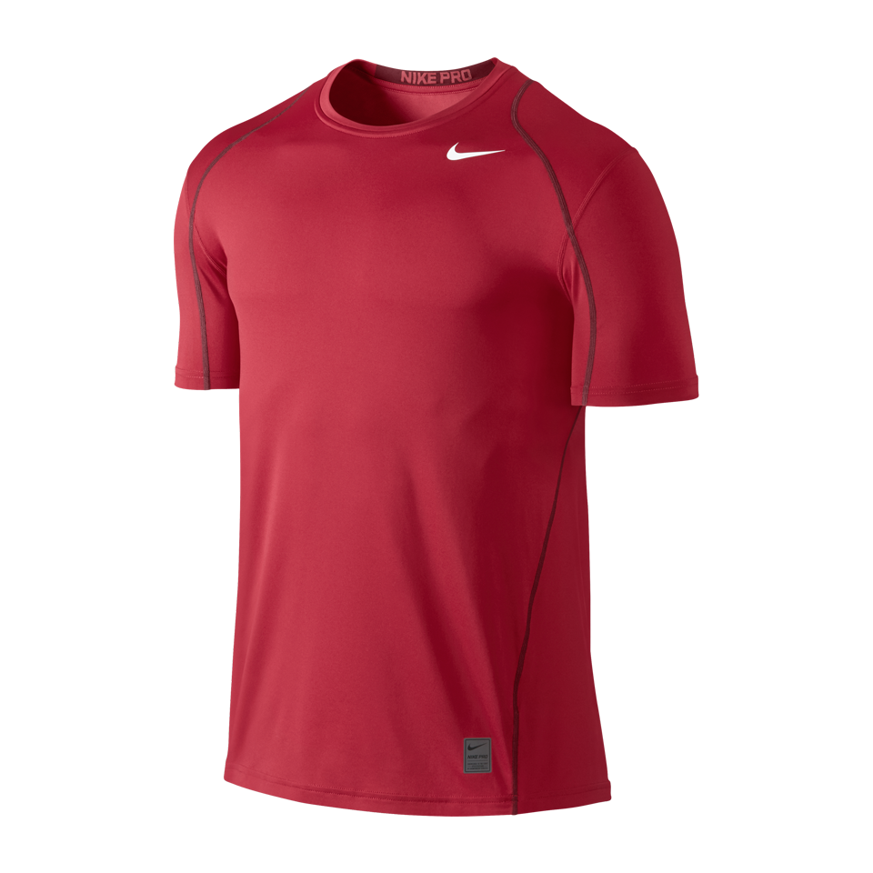 Nike Men's Pro Cool Short Sleeve Shirt Gym Red