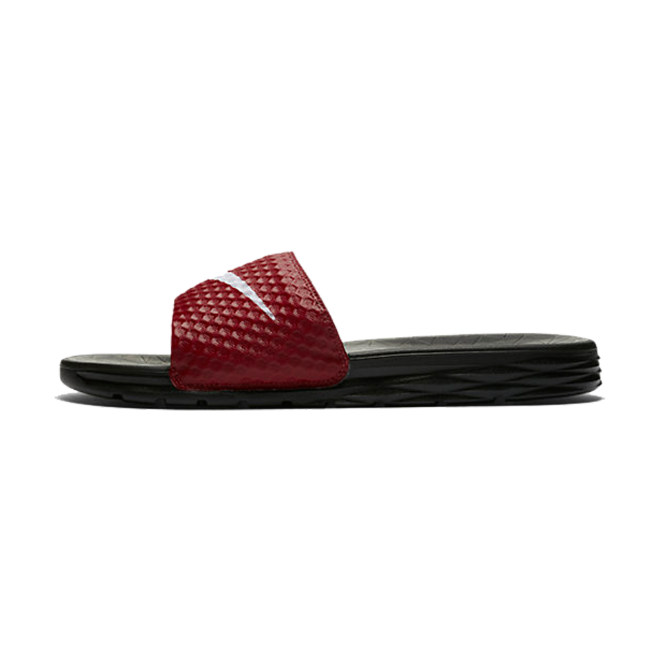 2226f60aaadb2c Nike Men s Benassi Solarsoft Slide Team Red White