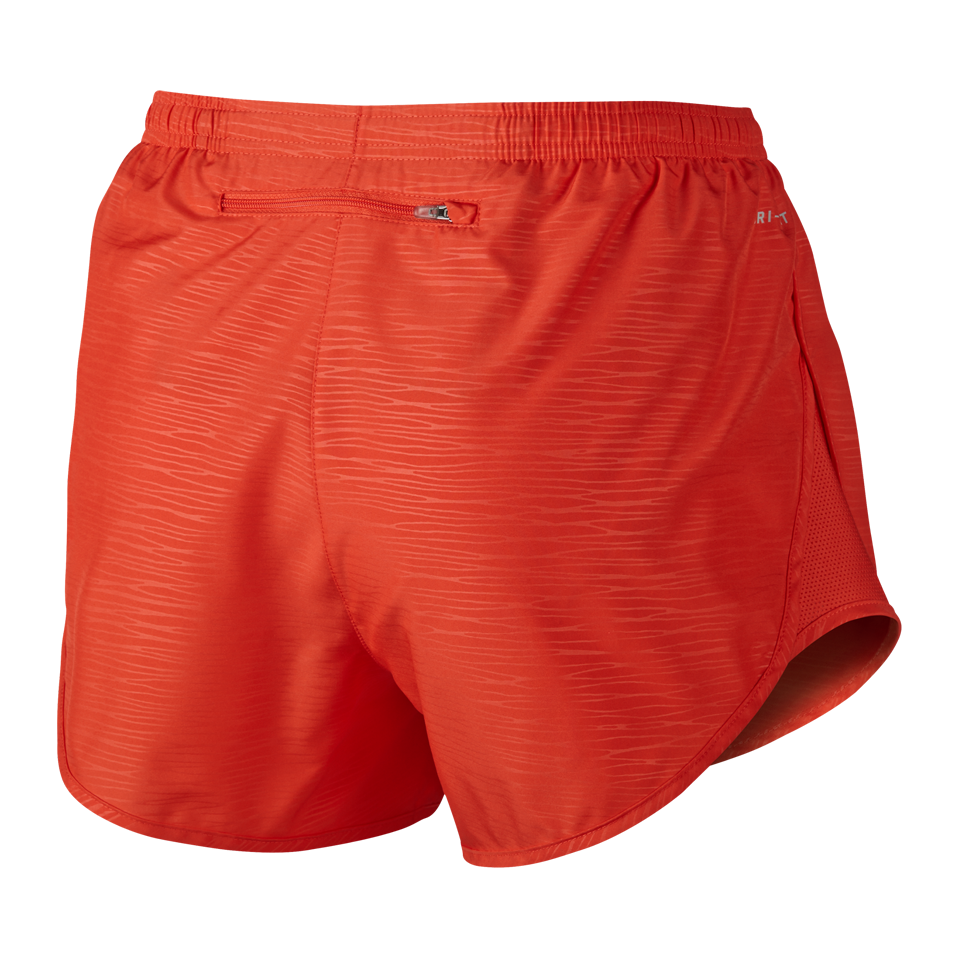 Nike Women's Modern Embossed Tempo Running Short Light Crimson