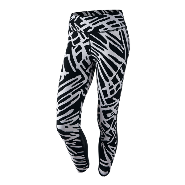 Nike Women's Palm Epic Lux Running Crops Black Print