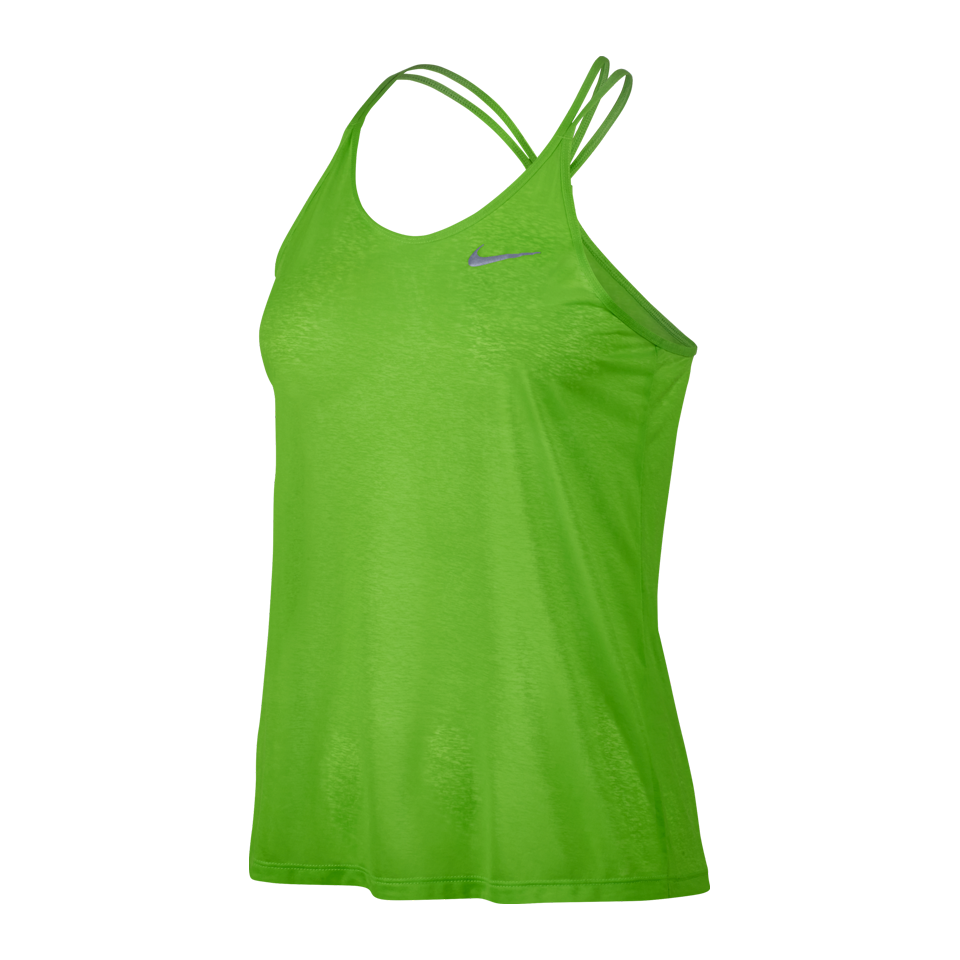 Nike Women's Dri-FIT Cool Breeze Strappy Running Tank Action Green