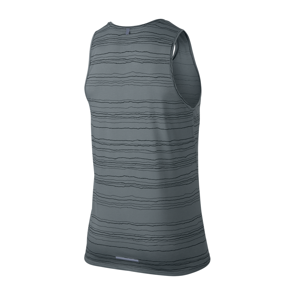 Nike Men's Dri-FIT Cool Tailwind Stripe Tank Cool Grey