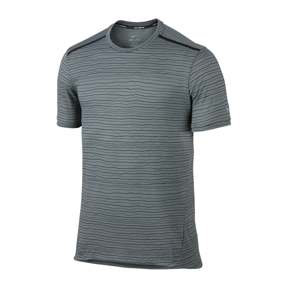 Nike Men's Dri-FIT Cool Tailwind Stripe Shirt Cool Grey
