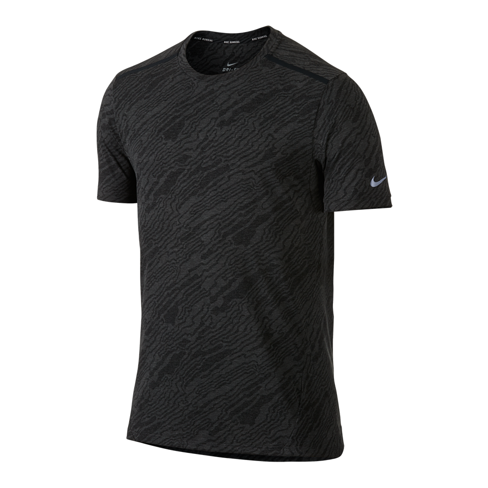 Nike Men's Dri-FIT Elevate Tailwind Short Sleeve Shirt Black