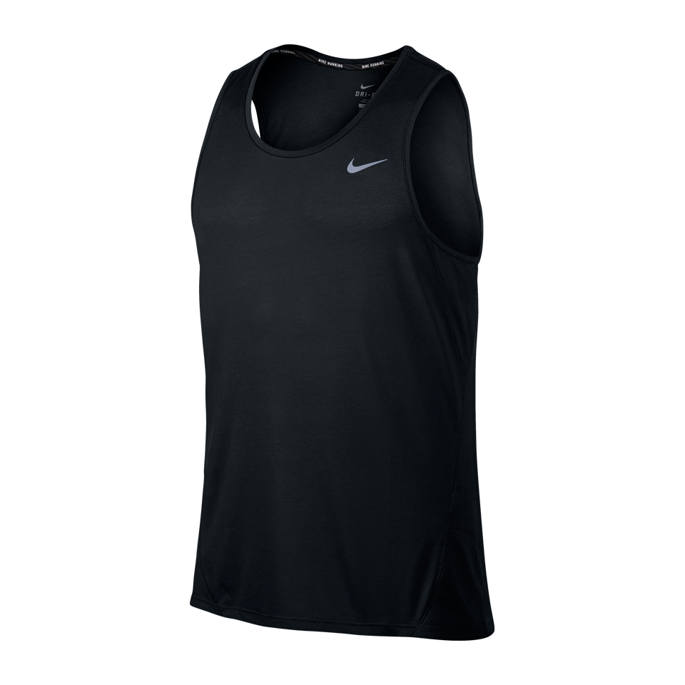 Nike Men's Dry Running Tank Black