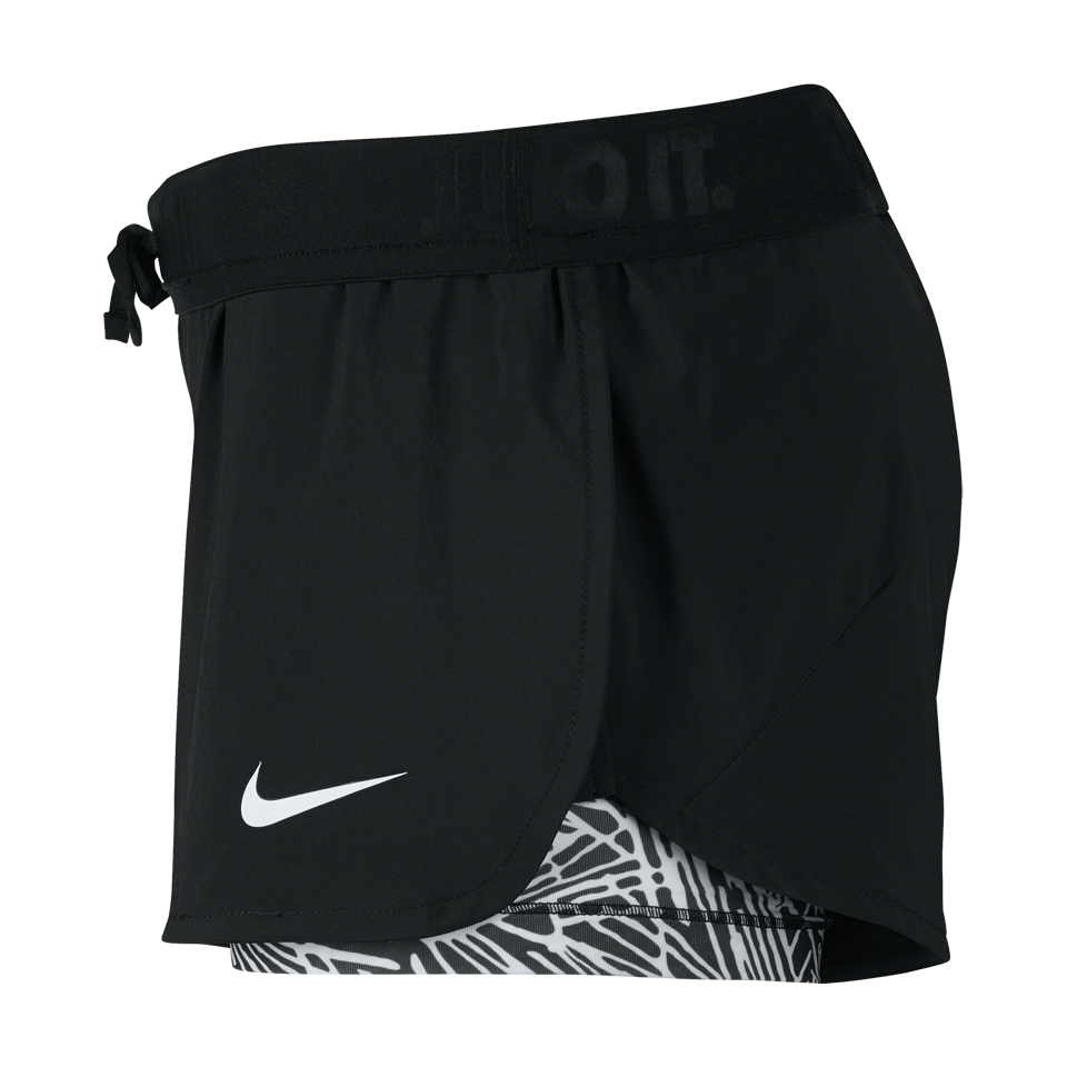 Nike Women's Full Flex 2-in-1 Twist Training Shorts Black