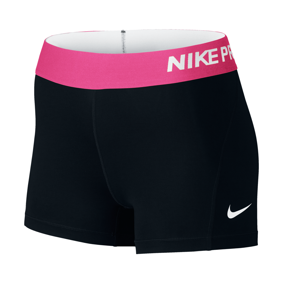 Nike Women's Pro Cool Short Black/Vivid Pink