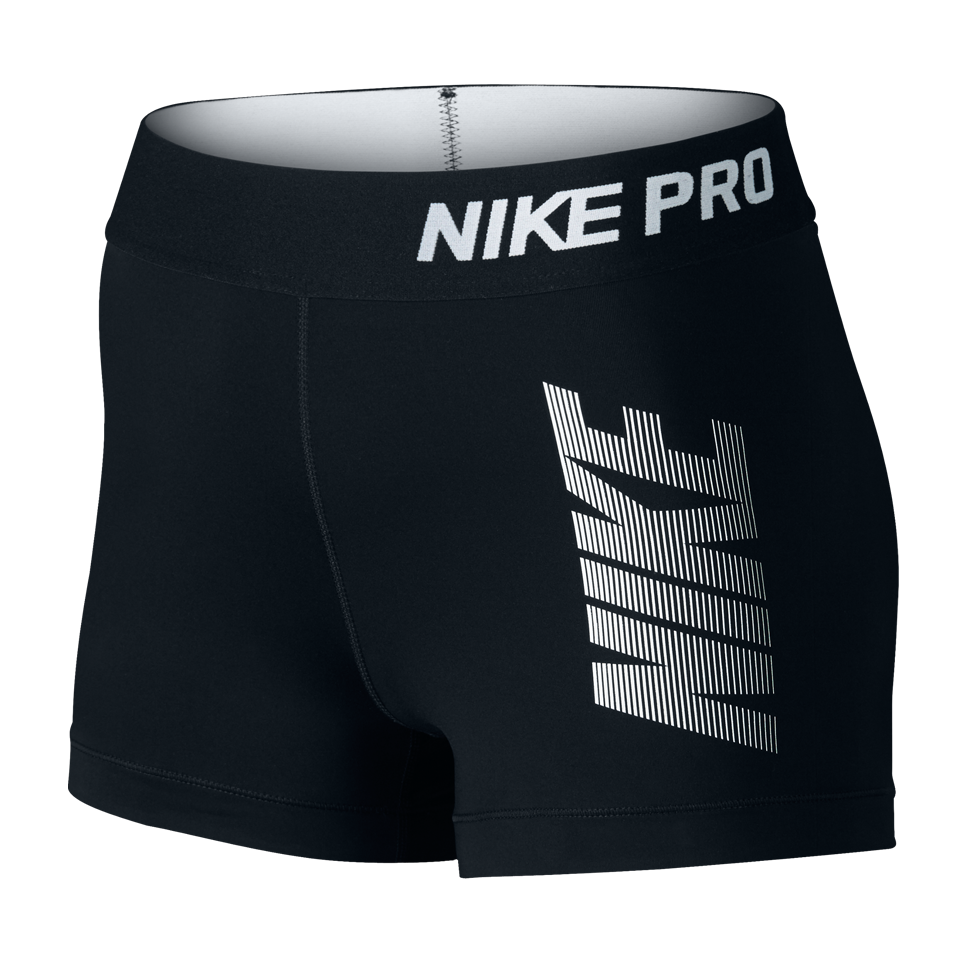 "Nike Women's Pro Cool Graphic 3"" Short Black"