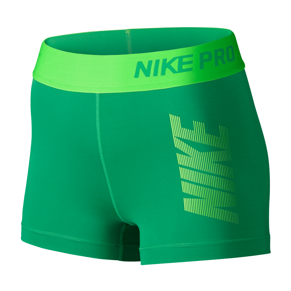 "Nike Women's Pro Cool Graphic 3"" Short Spring Green"