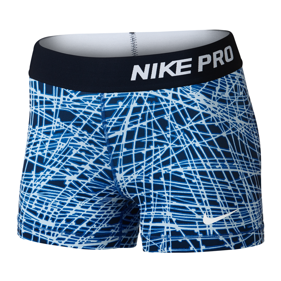 "Nike Women's Pro Cool Tracer 3"" Short Game Royal"