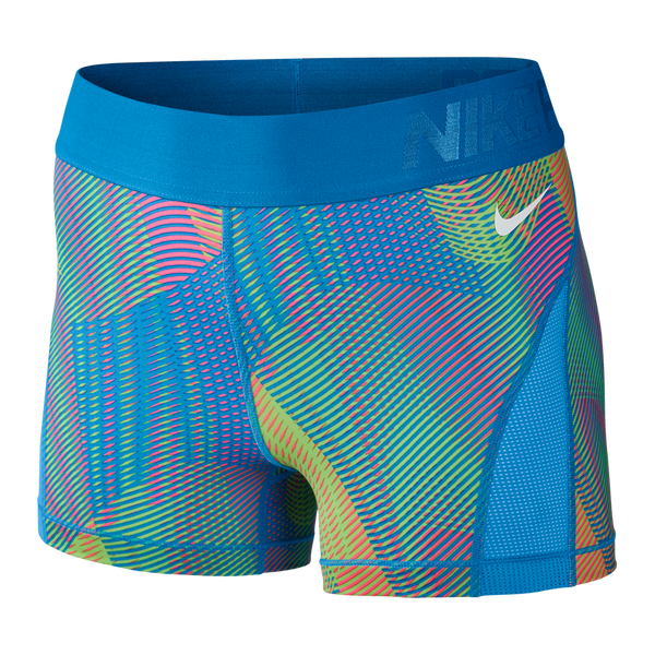 Nike Women's Pro Hypercool Frequency Shorts Light Photo Blue