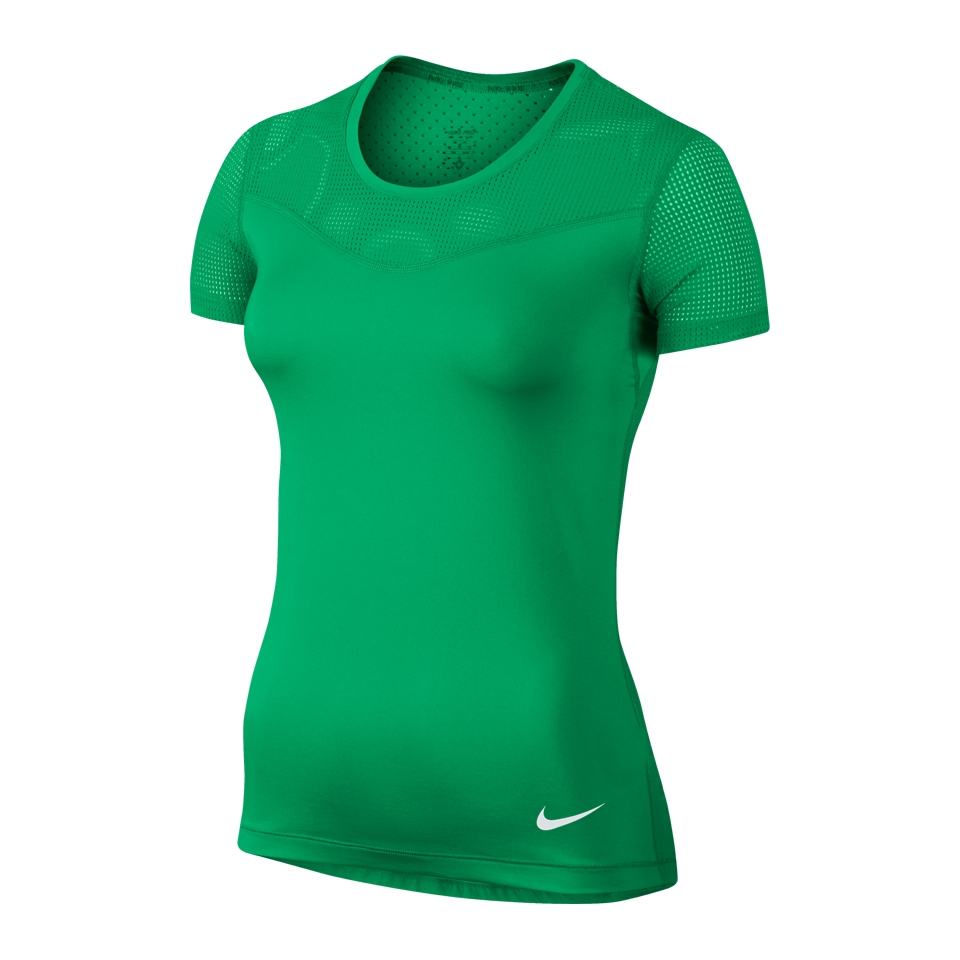 Nike Women's Pro Hypercool Short Sleeve Shirt Spring Green