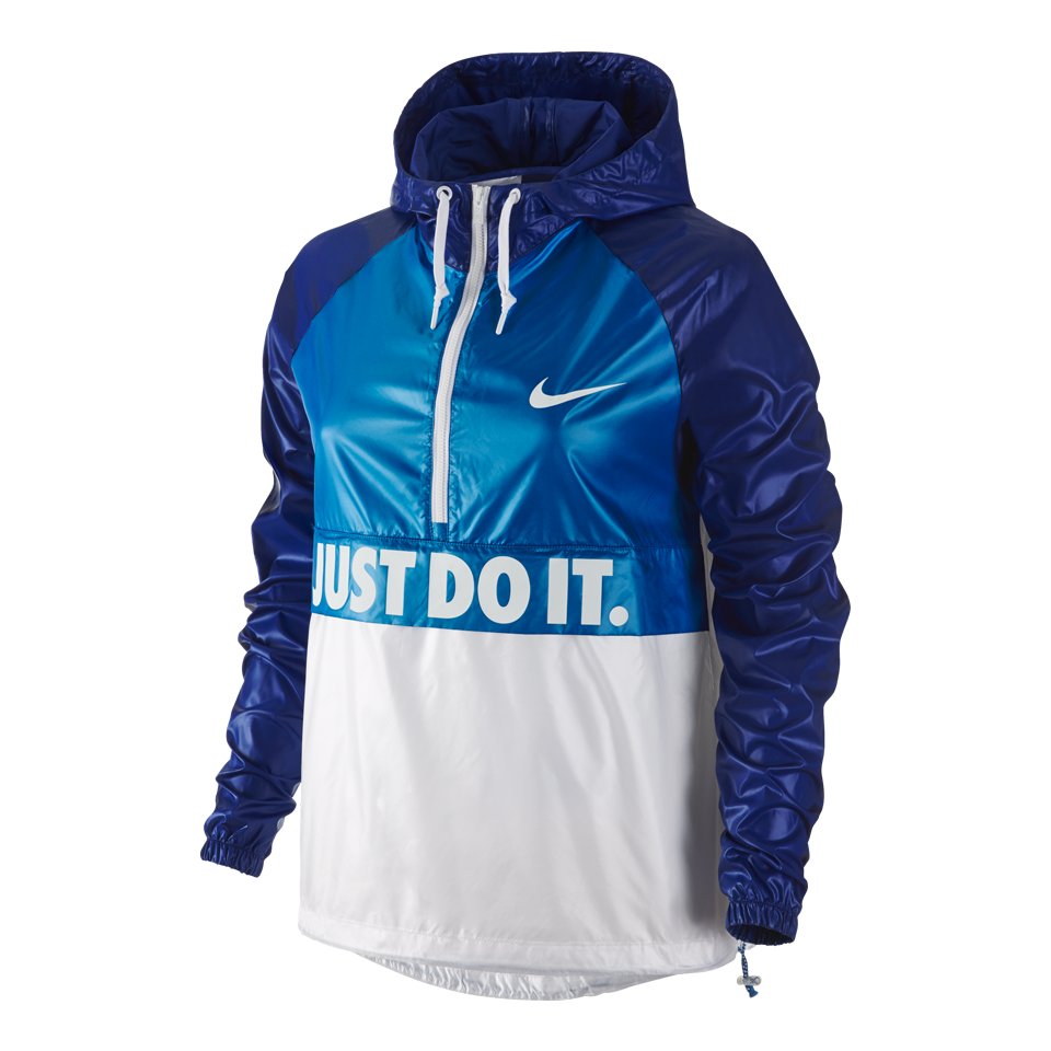 Nike Women's City Packable Hooded Jacket Photo Blue