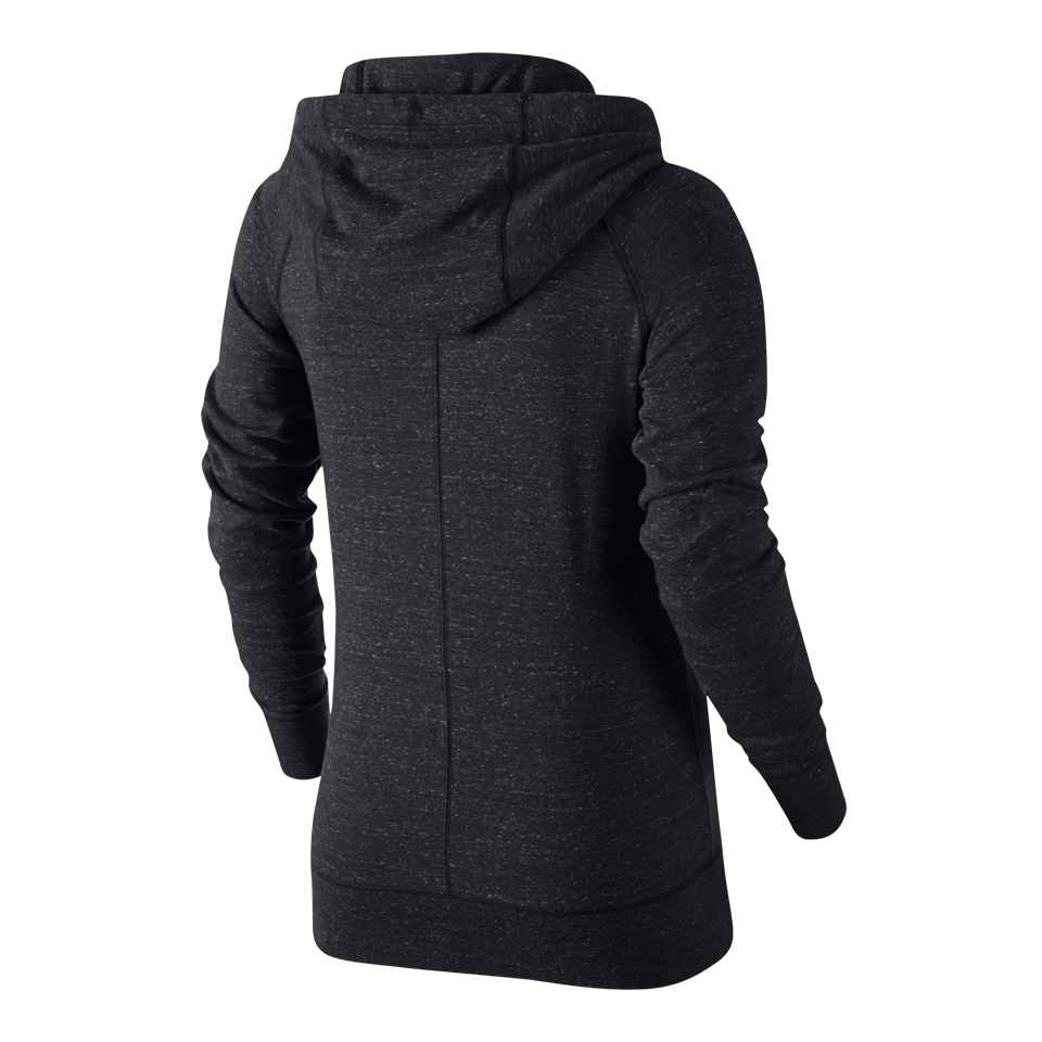 Nike Women's Gym vintage Full-Zip Hoodie Anthracite