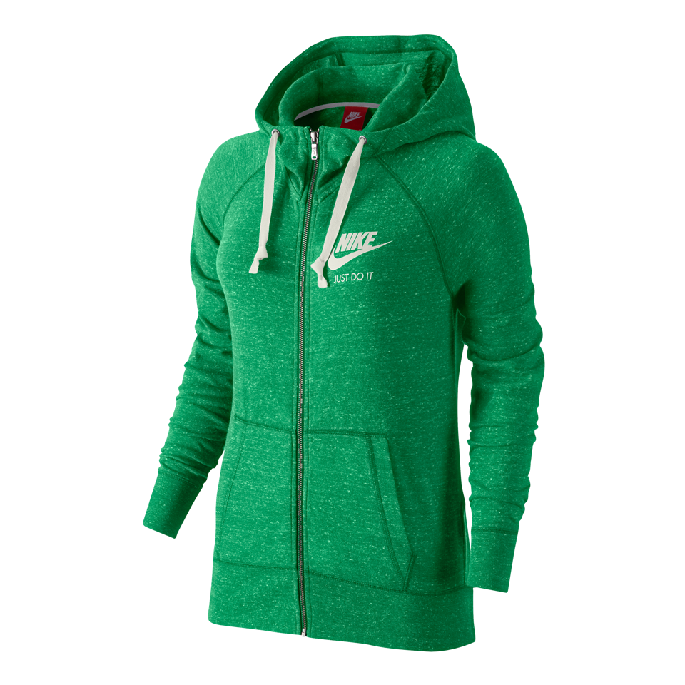 Nike Women's Gym Vintage Full-Zip Hoodie Spring Green
